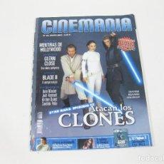Cine: REVISTA CINEMANÍA Nº 80 DE EL ATAQUE DE LOS CLONES - STAR WARS - EPISODIO II - ATACAN LOS CLONES. Lote 254650985