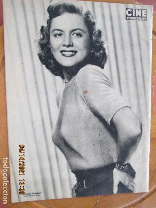 Cine: CINE MUNDO REVISTA Nº 14 MAYO 1952 - PORTADA IVONNE DE CARLO - MARIO CABRE - CONTRA- AILEEN STANLEY - Foto 2 - 254676615