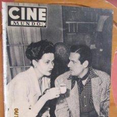 Cine: CINE MUNDO REVISTA Nº 14 MAYO 1952 - PORTADA IVONNE DE CARLO - MARIO CABRE - CONTRA- AILEEN STANLEY. Lote 254676615