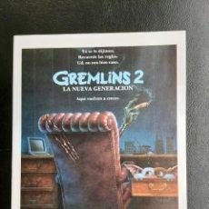 Cine: GREMLINS 2 LA NUEVA GENERACIÓN IMPRESO EN LOS AÑOS 80. Lote 254811585
