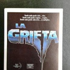 Cine: LA GRIETA JACK SCALIA IMPRESO EN LOS AÑOS 80. Lote 254816010