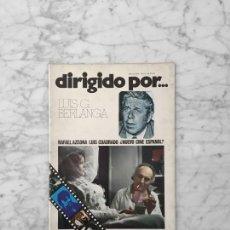 Cine: DIRIGIDO POR - Nº 13 -1974 - LUIS G. BERLANGA, LA PRIMA ANGELICA, RAFAEL AZCONA, LUIS CUADRADO. Lote 254947535
