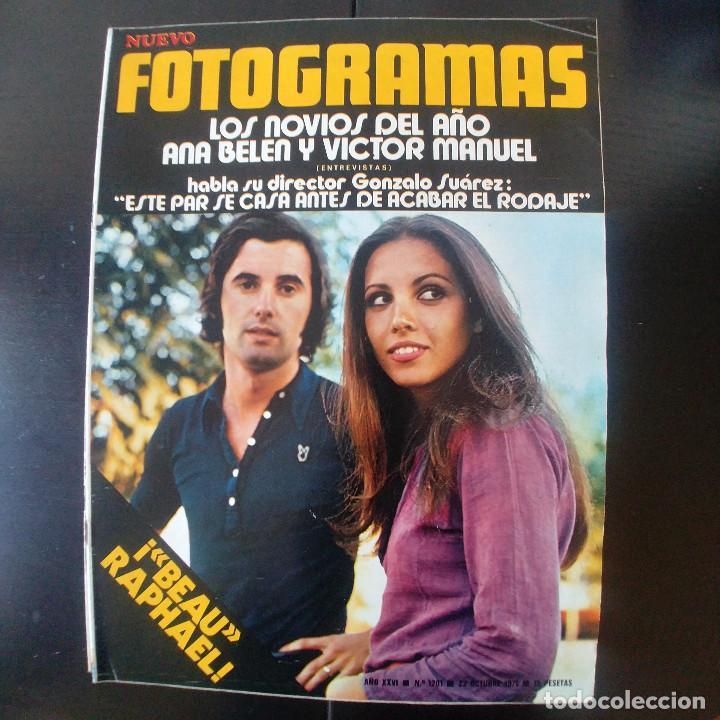 FOTOGRAMAS NUMERO 1201 - 22 OCTUBRE 1971 / ANA BELEN - VICTOR MANUEL - GONZALO SUAREZ - RAPHAEL (Cine - Revistas - Fotogramas)