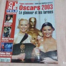 Cine: .CINE-REVUE-3 ABRIL 2003-Nº14(C.DION,M.CAREY,OSCARS 2003,PETER LAWFORD,GINGER ROGERS,ETC)VOIR PHOT. Lote 254975020