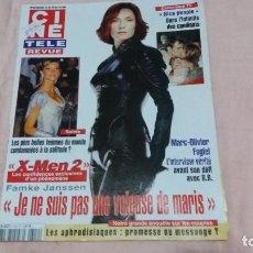 Cine: .CINE-REVUE-8 MAYO 2003-Nº19(M.O.OLIVER,JUDY HOLLIDAY,SUSAN HAYWARD,M.DRUCKER,XMEN 2,ETC)VOIR PHOT. Lote 254976615