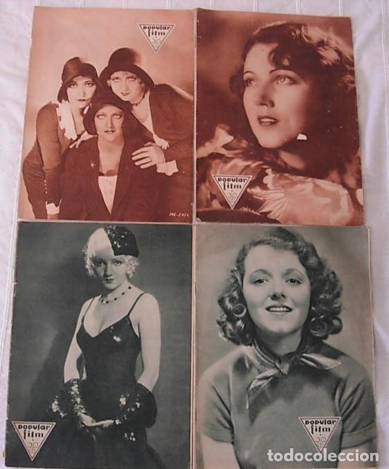 LOTE 4 REVISTAS POPULAR FILM 1930-31 JOAN CRAWFORD CLAUDETTE COLBERT FAY WRAY ANITA PAGE (Cine - Revistas - Popular film)