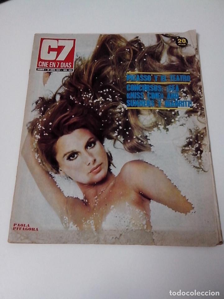 REVISTA C7 CINE EN SIETE DIAS Nº 629 AÑO 1973 (Cine - Revistas - Cine en 7 dias)