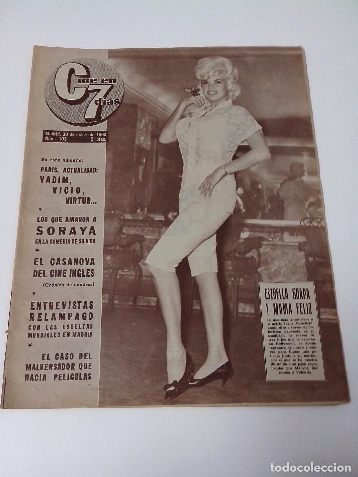 REVISTA C7 CINE EN SIETE DIAS Nº 103 AÑO 1963 (Cine - Revistas - Cine en 7 dias)