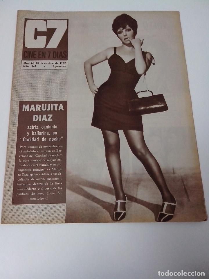 REVISTA C7 CINE EN SIETE DIAS Nº 345 AÑO 1967 (Cine - Revistas - Cine en 7 dias)