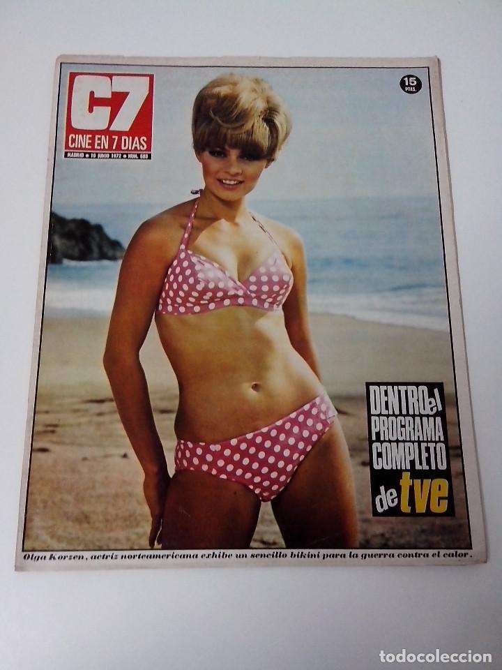 REVISTA C7 CINE EN SIETE DIAS Nº 583 AÑO 1972 (Cine - Revistas - Cine en 7 dias)