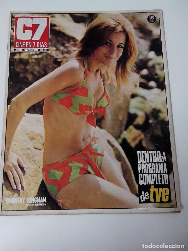 REVISTA C7 CINE EN SIETE DIAS Nº 601 AÑO 1972 (Cine - Revistas - Cine en 7 dias)