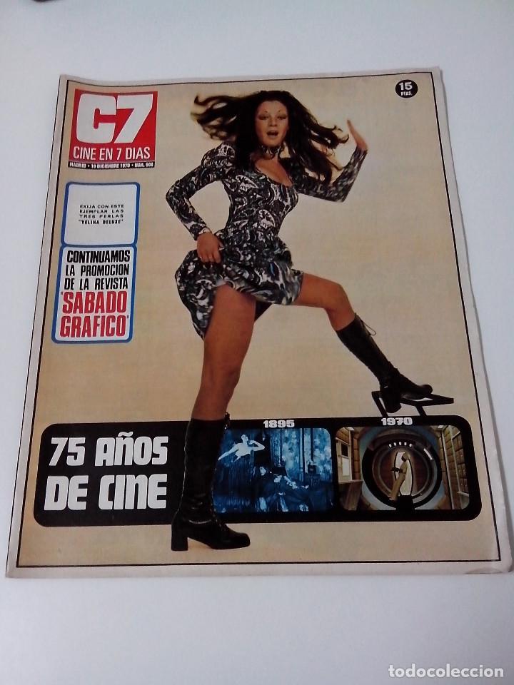 REVISTA C7 CINE EN SIETE DIAS Nº 506 AÑO 1970 (Cine - Revistas - Cine en 7 dias)