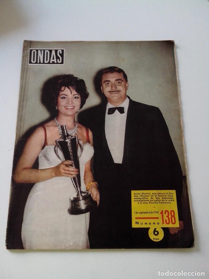 REVISTA ONDAS Nº 138 AÑO 1958 (Cine - Revistas - Ondas)