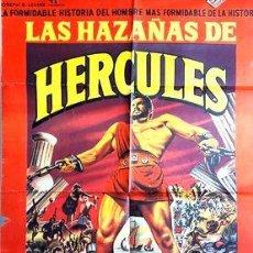 Cinema: AFICHE POSTER CINE PELICULA STEVE REEVES HAZANAS HERCULES. Lote 255106715