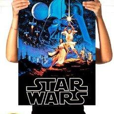 Cine: POSTER STAR WARS TODAS LAS PELICULAS YODA SKYWALKER 1 METRO. Lote 255281675