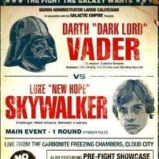 Cine: POSTER STAR WARS VADER VS SKYWALKER 30 X 40 CMNUEVO. Lote 255299625