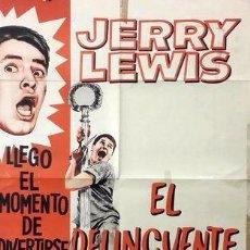 Cine: POSTER AFICHE THE DELICATE DELINQUEN JERRY LEWIS DELINCUENTE. Lote 255304460
