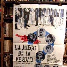 Cine: ROBERT HOSSEIN EL JUEGO DE LA VERDAD AFICHE CINE. Lote 255304720