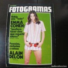 Cine: FOTOGRAMAS NUMERO 1209 - 17 DICIEMBRE 1971 / EMMA COHEN - ALAIN DELON. Lote 255329065