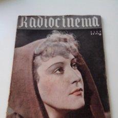 Cine: REVISTA DE CINE RADIOCINEMA Nº 51 AÑO 1940 PORTADA ELGA BRINK. Lote 255374855
