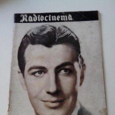 Cine: REVISTA DE CINE RADIOCINEMA Nº 38 AÑO 1939 ROBERT TAYLOR EN PORTADA. Lote 255375850