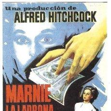 Cinema: MARNIE LA LADRONA. Lote 255430675