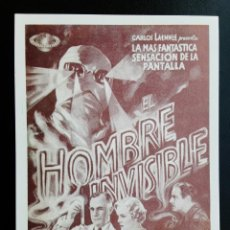 Cine: EL HOMBRE QUE TROCÓ SU MENTE BORIS KARLOFF IMPRESO EN LOS AÑOS 80. Lote 255632720