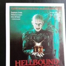 Cine: HELLBOUND : HELLRAISER II EL HORROR CONTINÚA IMPRESO EN LOS AÑOS 80. Lote 255634090