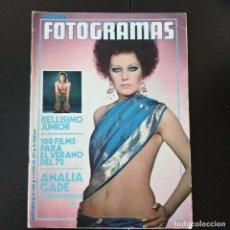 Cine: FOTOGRAMAS 1234 - 9 JUNIO 1972 / JUNIOR - ANALIA GADE. Lote 255981285