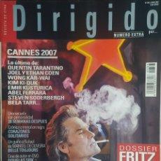 Cine: MAGAZINE DIRIGIDO 368 - KURT RUSSELL - FRITZ LANG - CANNES 2007 - TARANTINO. Lote 256134170