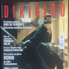Cine: MAGAZINE DIRIGIDO 273 - EL ZORRO - ANTONIO BANDERAS - KUROSAWA - BRIAN DE PALMA. Lote 256138260