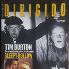 Cine: MAGAZINE DIRIGIDO 285 - TIM BURTON - SLEEPY HOLLOW - RAOUL WALSH - MICHAEL POWELL. Lote 256139810