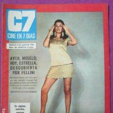 Cine: REVISTA CINE EN 7 DIAS POSTER GIGANTE MARISOL AGOSTO 1968 Nº 386 ESPECIAL. Lote 256150670