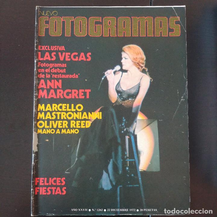 FOTOGRAMAS 1262 - 22 DICIEMBRE 1972 / ANN MARGRET - MARCELLO MASTROIANNI - OLIVER REED (Cine - Revistas - Fotogramas)