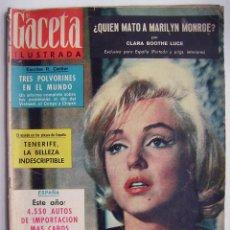 Cine: MARILYN MONROE. REVISTA GACETA ILUSTRADA, DE 1964.. Lote 257339180