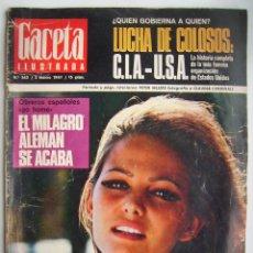 Cine: CLAUDIA CARDINALE. REVISTA GACETA ILUSTRADA, DE 1967.. Lote 257340330