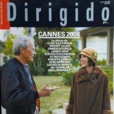 Cine: MAGAZINE DIRIGIDO 379 - CLINT EASTWOOD - ANGELINA JOLIE - JOHN FORD - CANNES 08. Lote 257426445