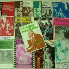 Cine: LOTE DE 13 REVISTAS FRANCESAS DE CINE LES CAHIERS DE LA CINEMATHEQUE 1978-1988 EXCELENTES !!. Lote 257466280