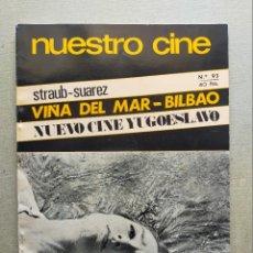 Cine: NUESTRO CINE: Nº 93 - FESTIVAL DE VIÑA DEL MAR // CINE YUGOSLAVO - ENERO 1970. Lote 257503480