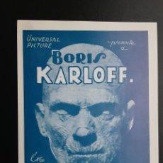 Cinéma: LA MOMIA BORIS KARLOFF IMPRESO EN LOS AÑOS 80. Lote 257543930