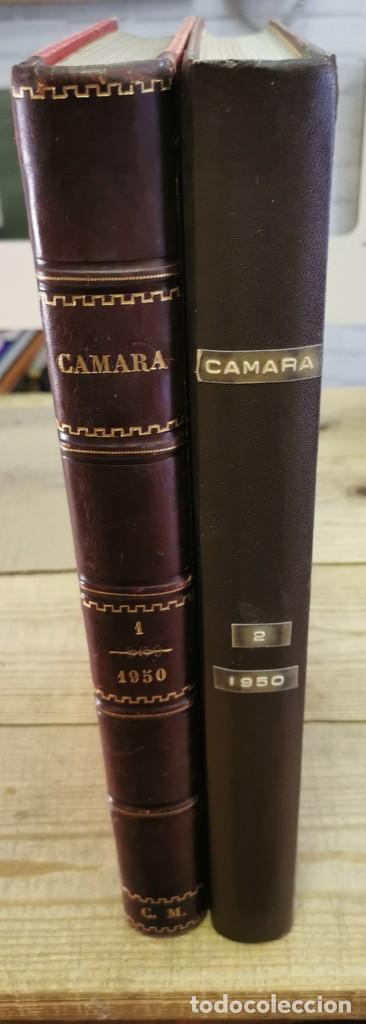 REVISTA CAMARA, ENCUADERNADA, AÑO 1950 COMPLETO, 2 TOMOS Nº 168 A 191, 24 REVISTAS (Cine - Revistas - Cámara)