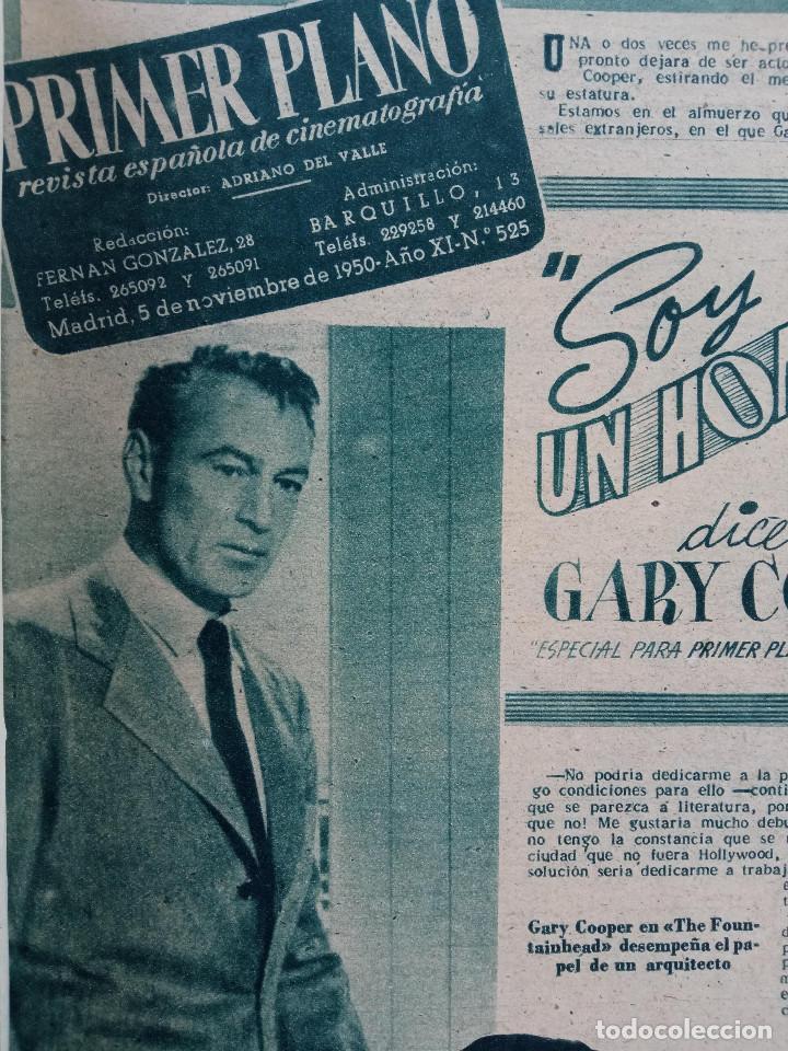 Cine: REVISTA PRIMER PLANO. AÑO 1950. PAQUITA RICO, FRED ASTAIRE VERA ALLEN, TEATRO APOLO, GARY COOPER, - Foto 2 - 257684410