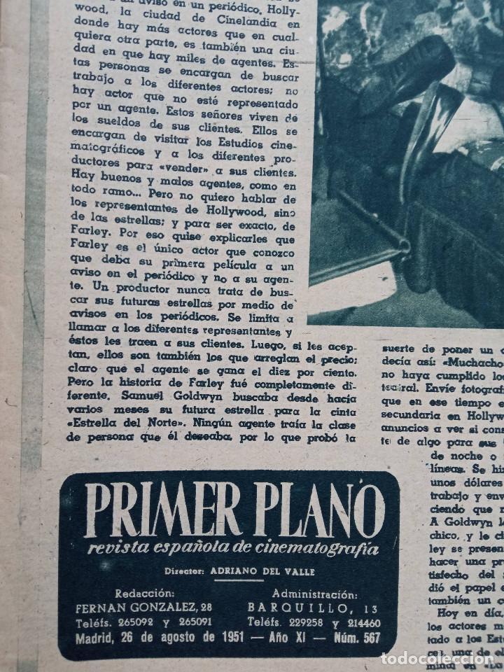 Cine: REVISTA PRIMER PLANO. AÑO 1951. ESTHER WILLIAMS, HUMPHREY BOGART, LUIS MARIANO, C. SEVILLA, F. LAMAS - Foto 2 - 257685260