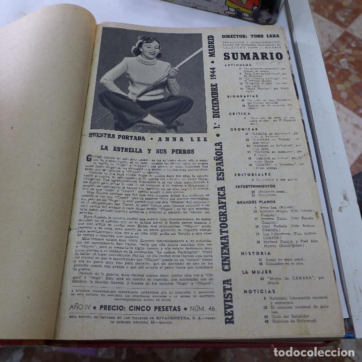 Cine: TOMO DE LA REVISTA CINEMATOGRAFICA ESPAÑOLA CAMARA 1944 - 12 NUMEROS - Foto 9 - 258170080