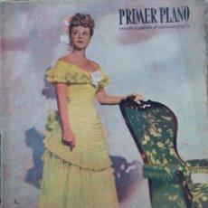 Cine: REVISTA PRIMER PLANO 1948. ANGELA LANSBURY, PATRICK HOLT, NEGRETE, CANTINFLAS, K. HEPBURN,. Lote 258517785