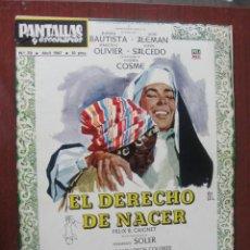 Cine: PANTALLAS Y ESCENARIOS 70 / 1967 - MOLINS DE REY - HISPAMEX HATHAWAY - JOSE Mª MORERA - ENVIO GRATIS. Lote 259325315