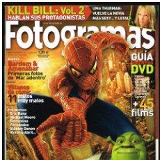 Cine: REVISTA FOTOGRAMAS Nº 1929 JULIO 2004 - SPIDERMAN, SHREK. Lote 260016475