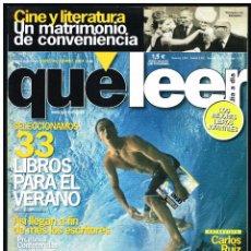 Cine: REVISTA QUE LEER Nº 90 - CARLOS RUIZ ZAFON. Lote 260017605