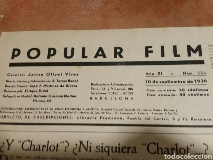 Cine: POPULAR FILM 1936 42x32cm revista - Foto 2 - 261843995