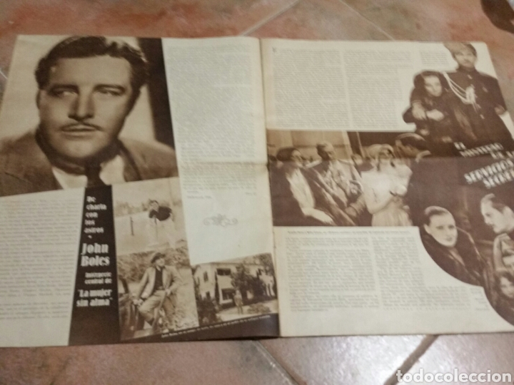 Cine: POPULAR FILM 1936 42x32cm revista - Foto 3 - 261843995